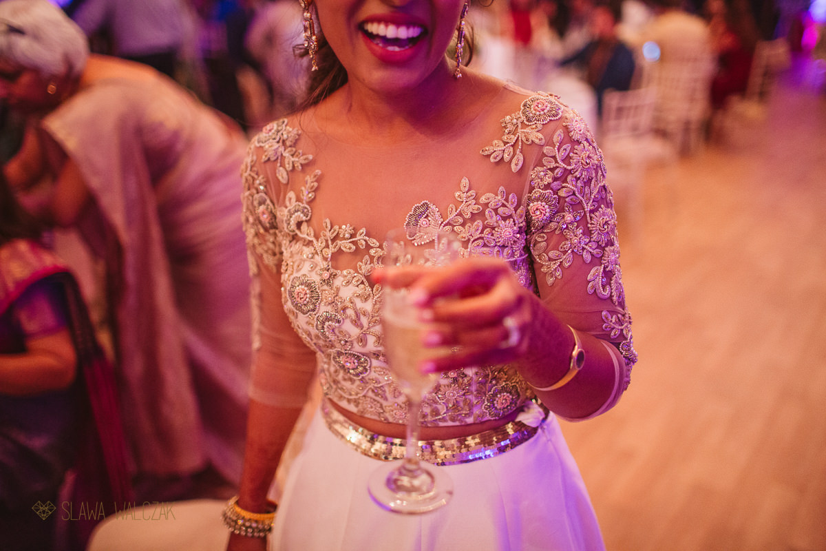 Asian wedding dinner reception photos at Chiswick House