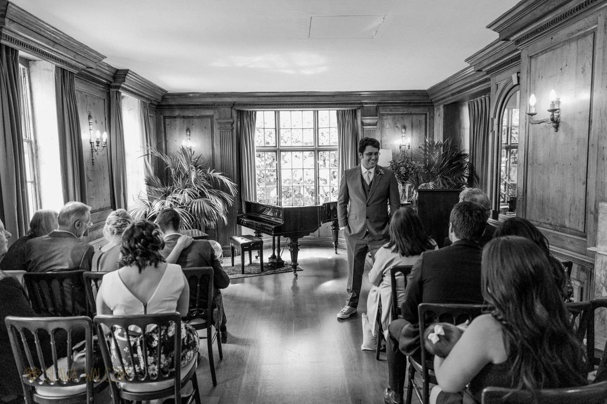 Informal wedding at aBurgh House in London