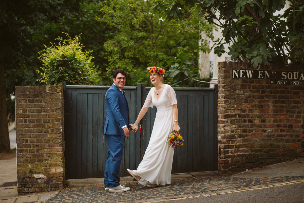 couple photo shoot at Burgh House Wedding