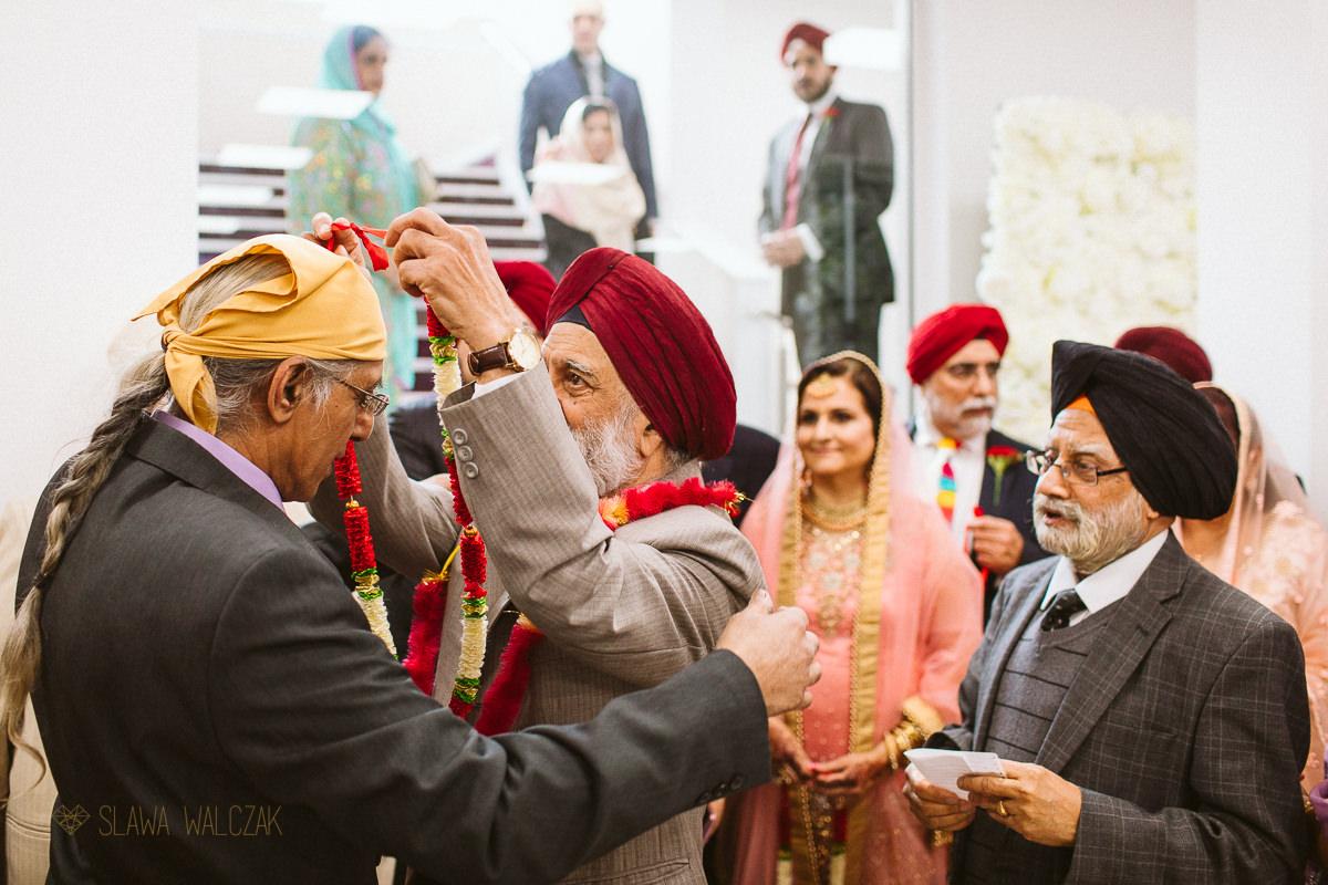 Milni at a Sikh Wedding in London Central Gurdwara