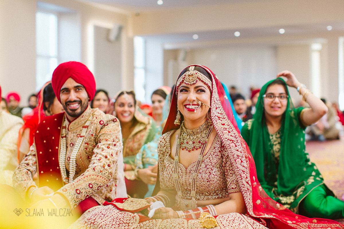 Groom signing a registry during his sikh marriage ceremony