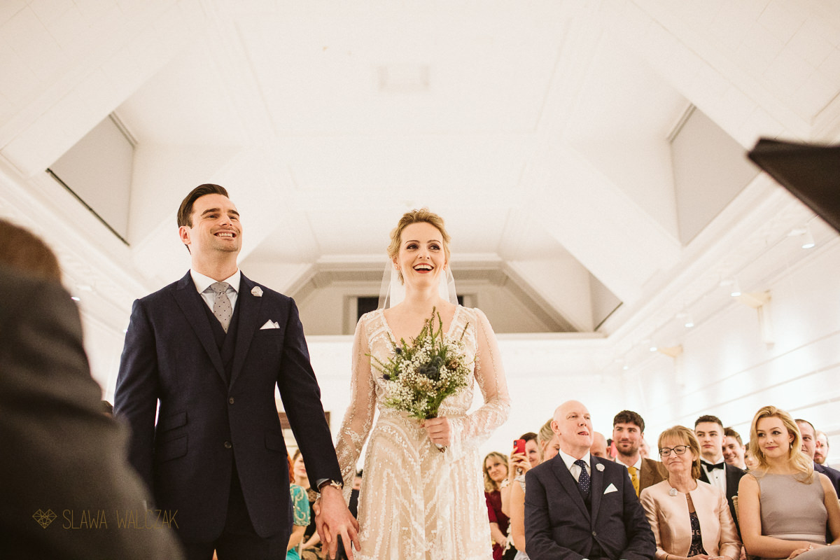 Fulham Library wedding couple