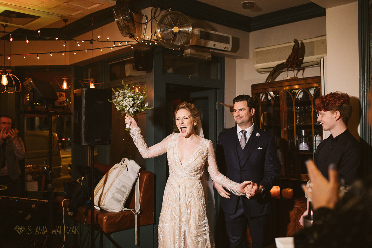 intimate wedding photography at London Fulham Library