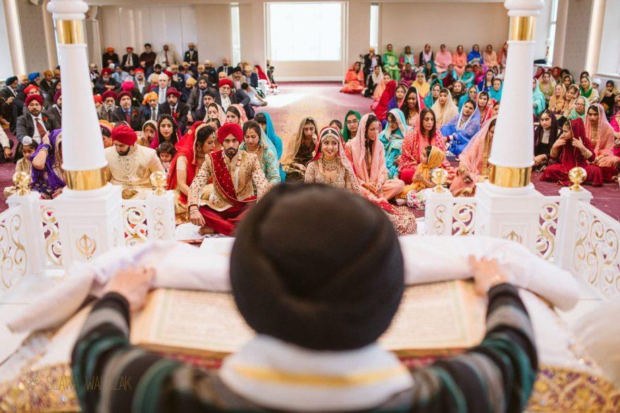 Asian documentary photos from a Sikh Religious wedding in London Gurdwara