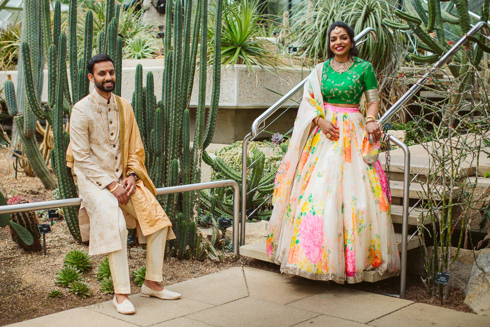 Relaxed asian wedding photo shoot at Princess of Wales Conservatory