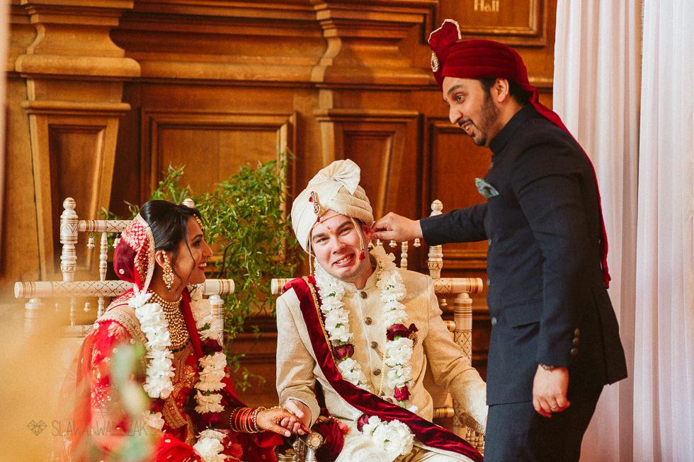 Indian Asian Wedding photos at Harlaxton Manor Grantham