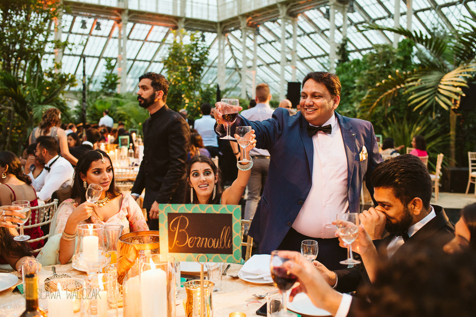 wedding Reception photos at Temperate House Kew Gardens