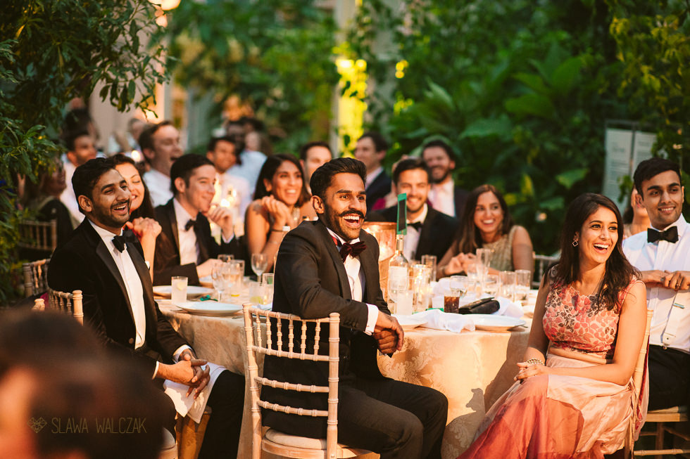 speeches at a wedding Reception photos at Temperate House Kew Gardens