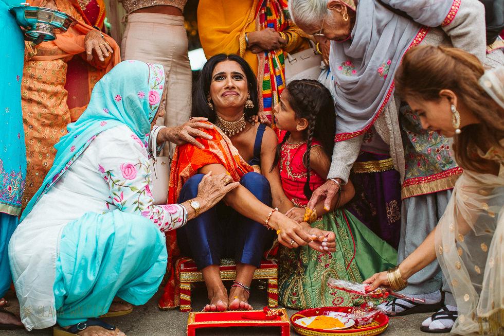 Sikh mayian pre wedding ceremony at Westbury Castle