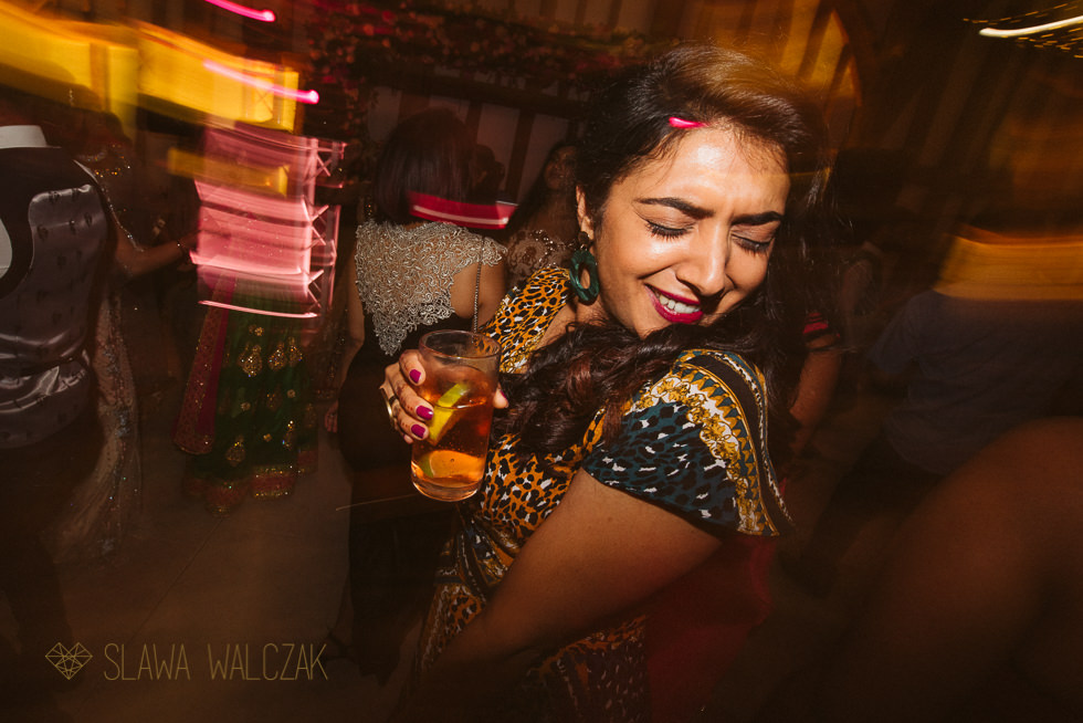 indian wedding reception photos from The Great Barn London