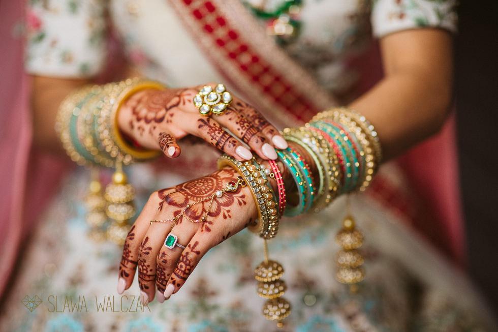 Indian bridal preparations for a wedding at rhe Great Barn at Headston Manor
