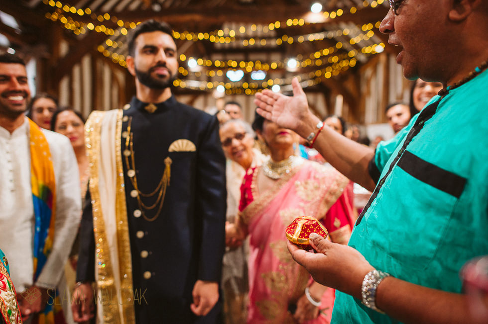 photo of an Indian groom entering The Great Barn Headstone Manor