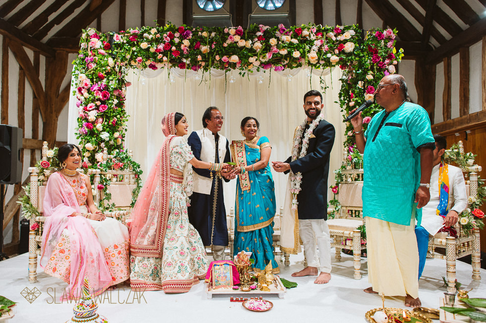 Indian Wedding ceremony at Headston Manor The Great Barn