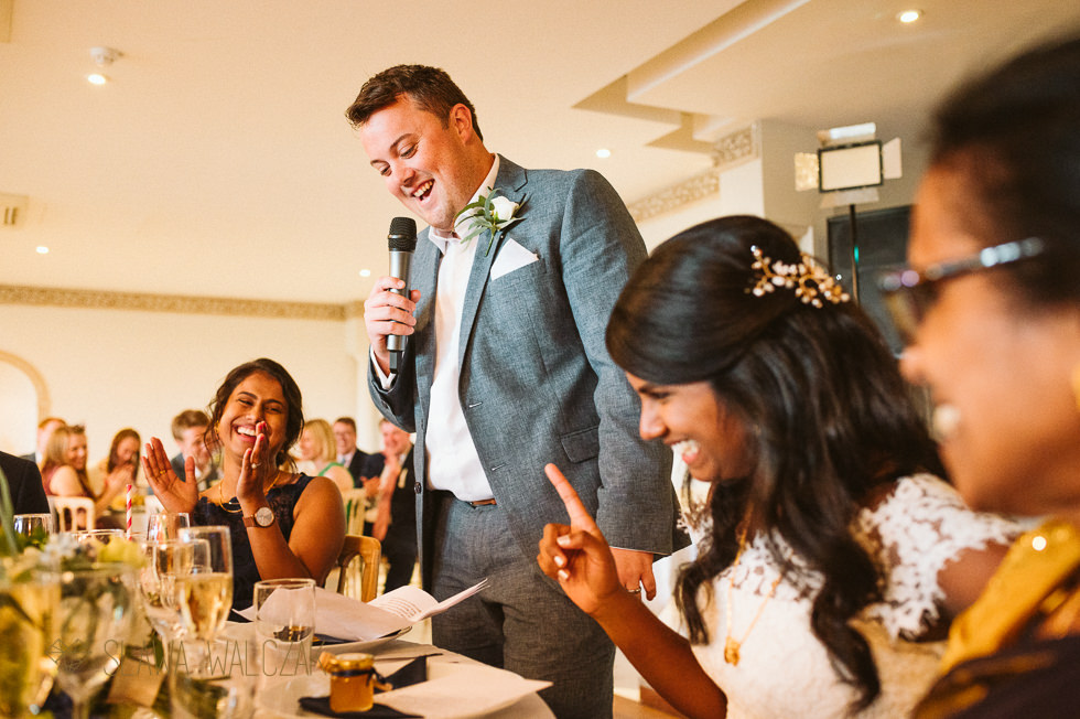 photos of wedding speeches at a Tamil Wedding at Froyle Park