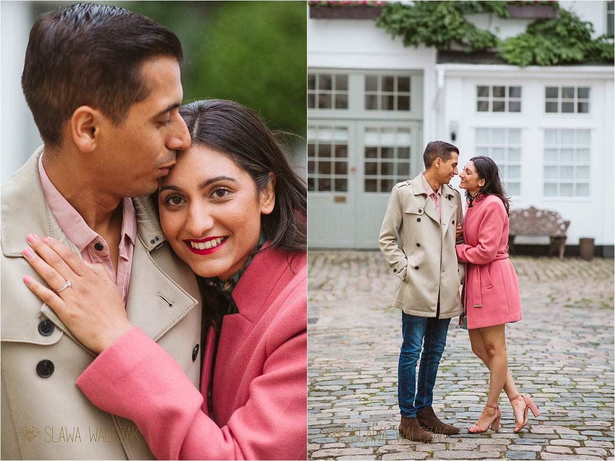 London engagement photographer taking photos of an Asian couple