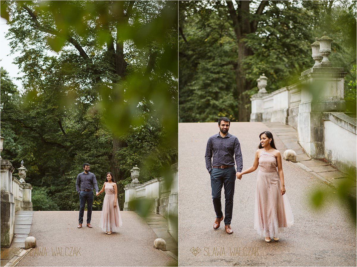 Pre wedding photography at Chiswick House Gardens in London