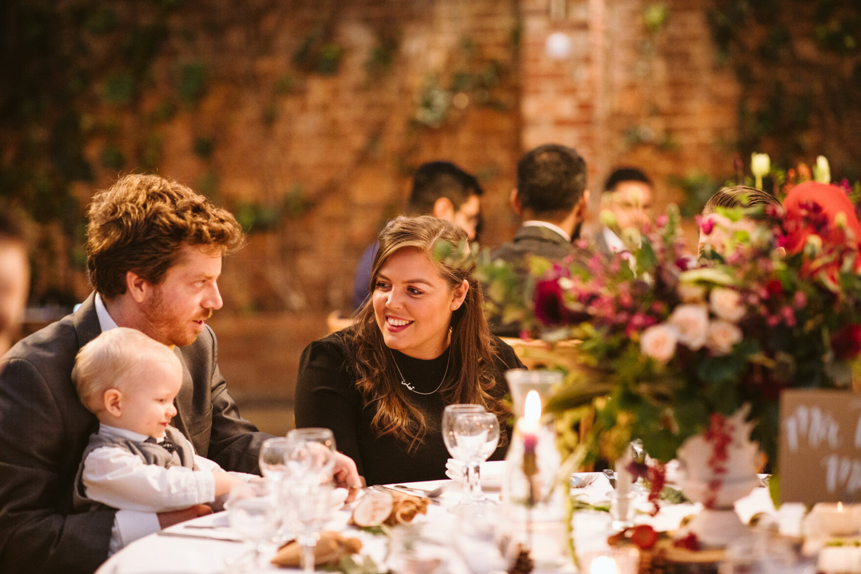 guests at a wedding reception