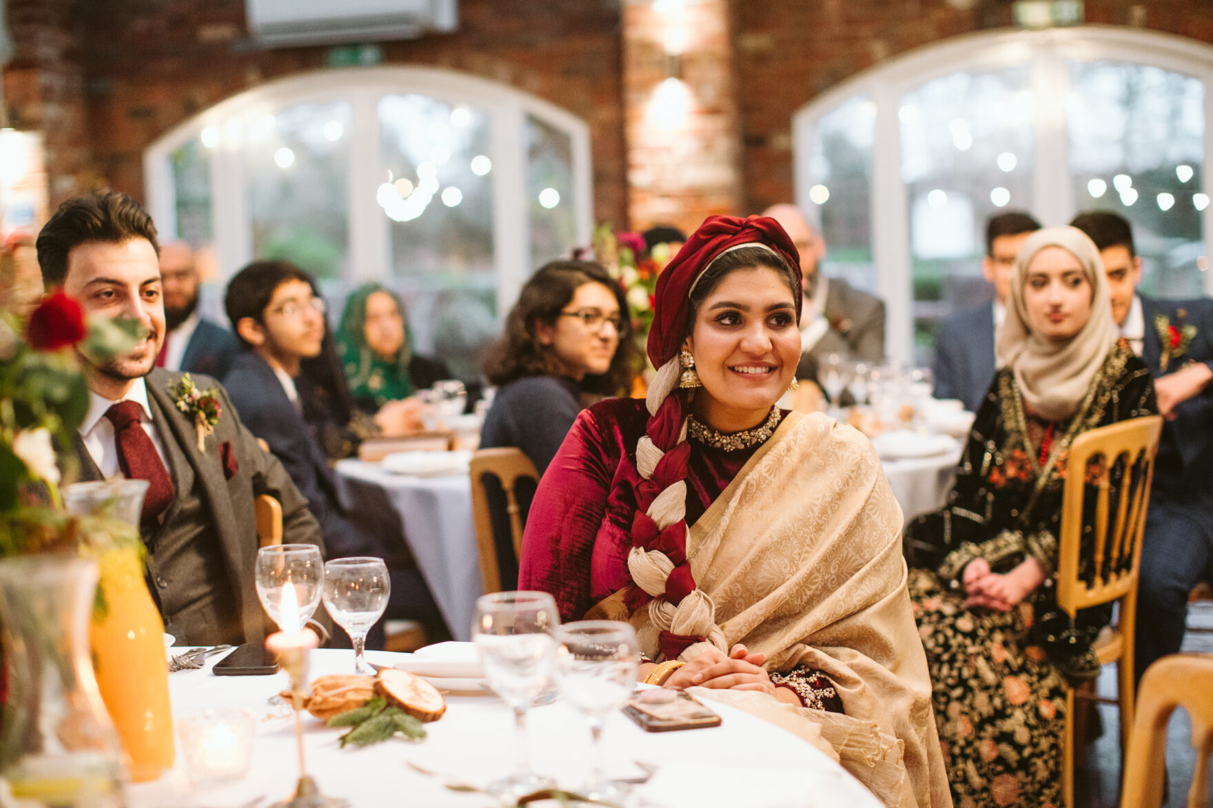 photo of a guest at a nikkah wedding in London