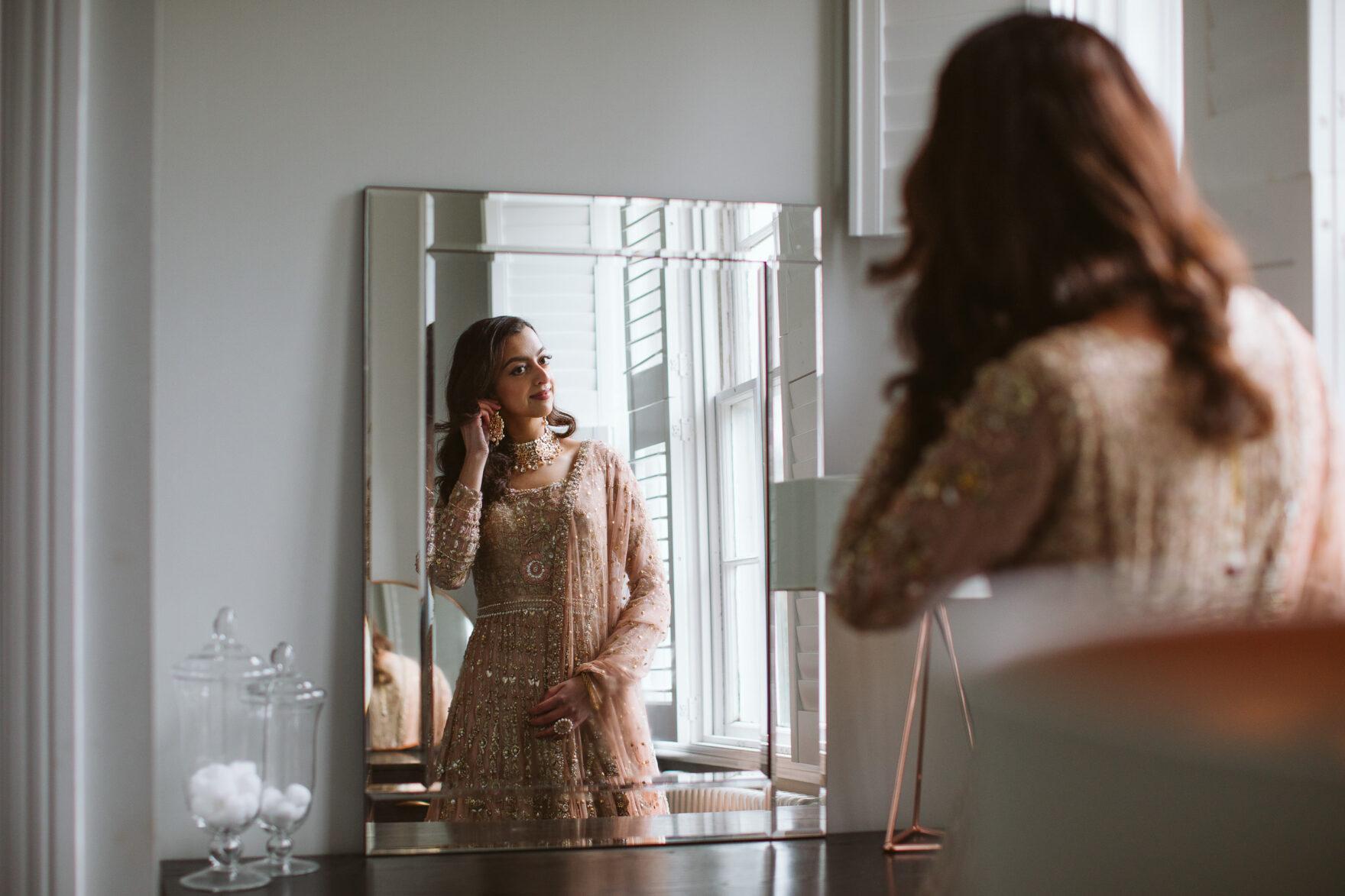 Nikkah Muslim Wedding Photographer London bride getting ready