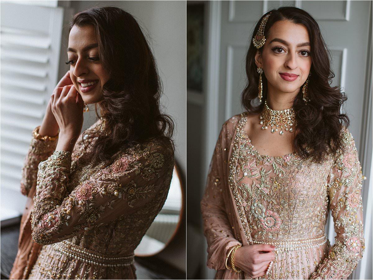 Muslim Bride getting ready for her Muslim Wedding ceremony