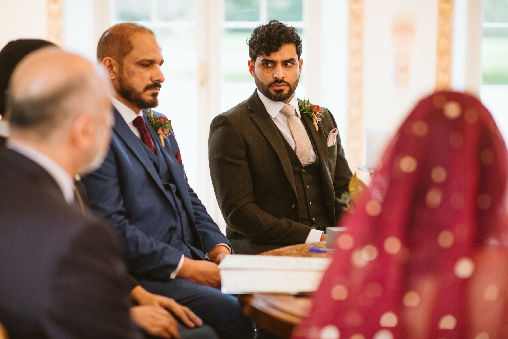 Groom at his nikkah ceremony