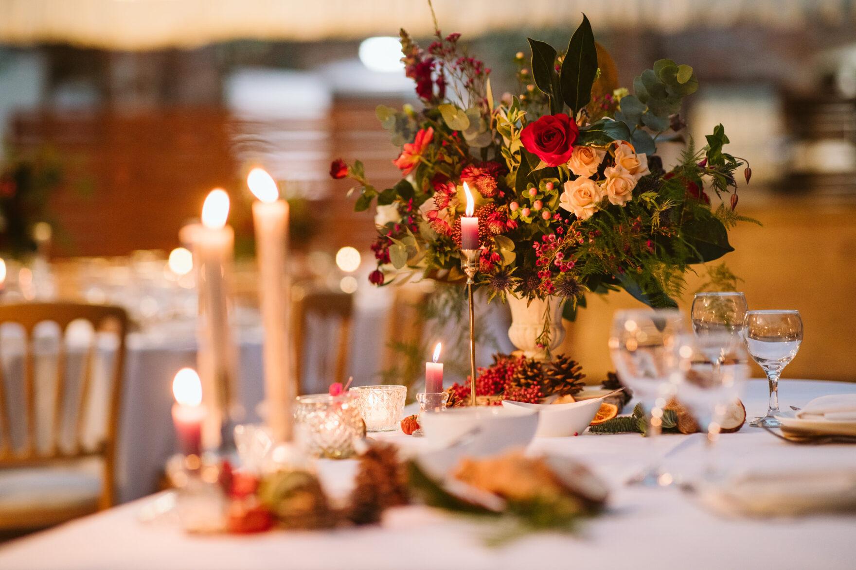 table decor photos at a Muslim Wedding