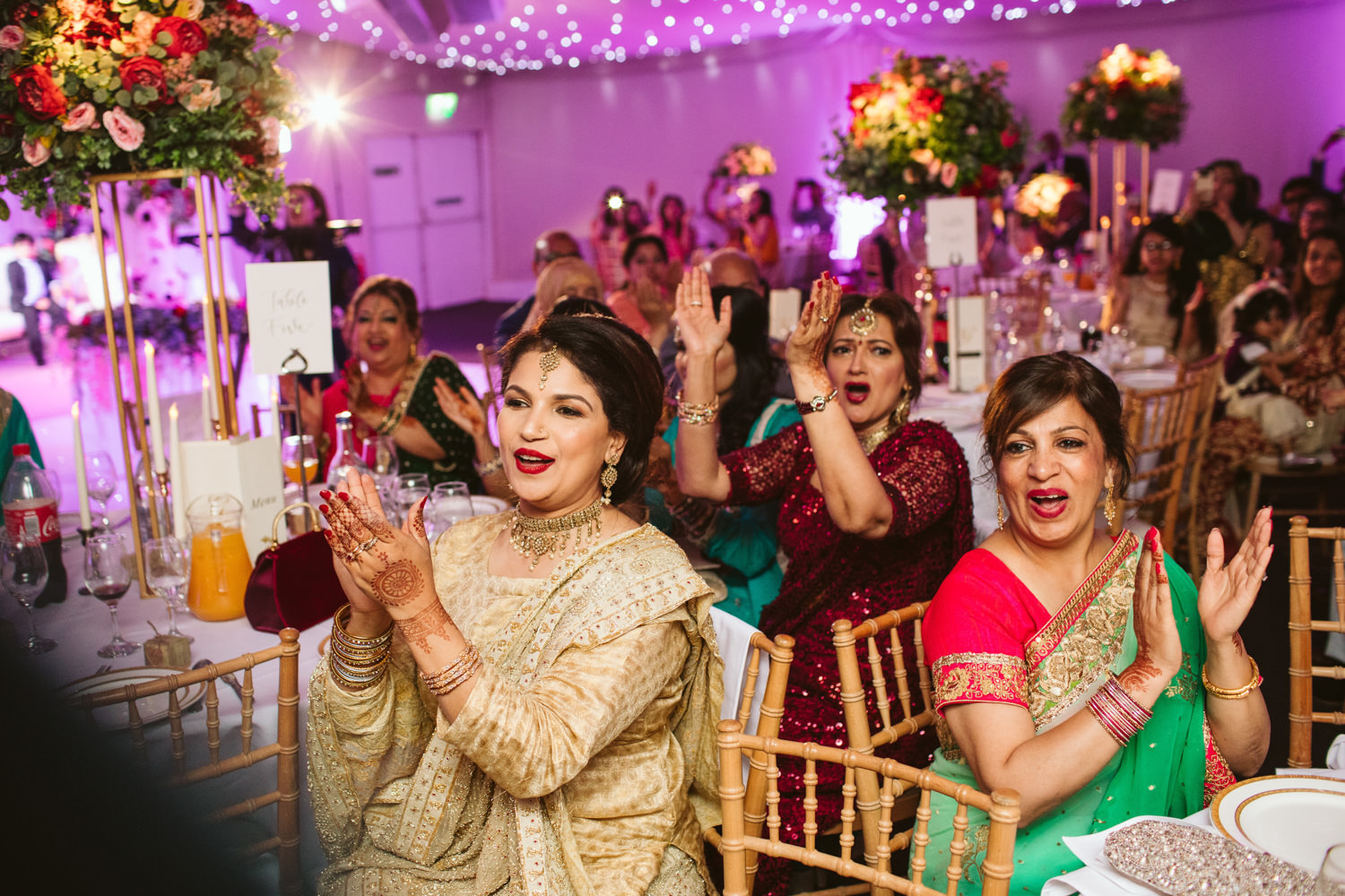 Photography of some guests at an Asian Wedding in London